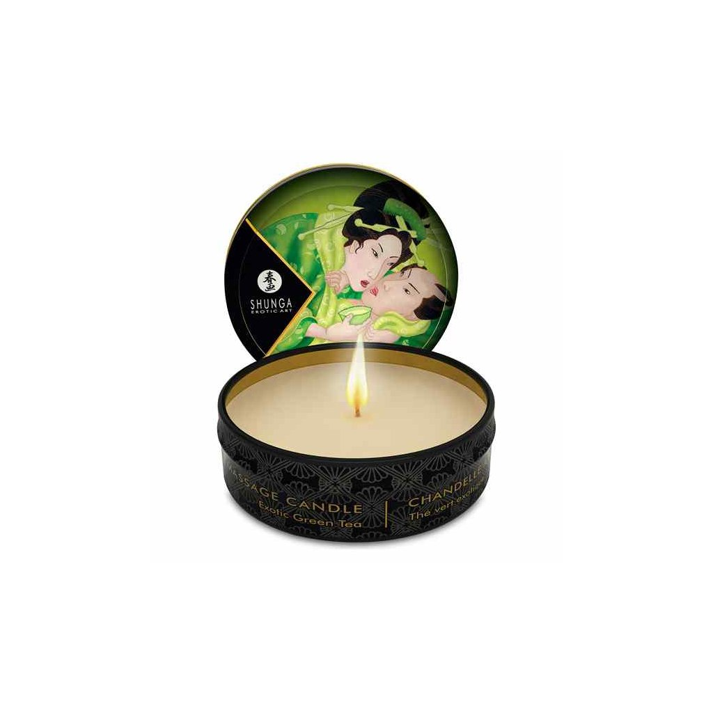 Shunga - Mini Massage Candle Green Tea 30 ml