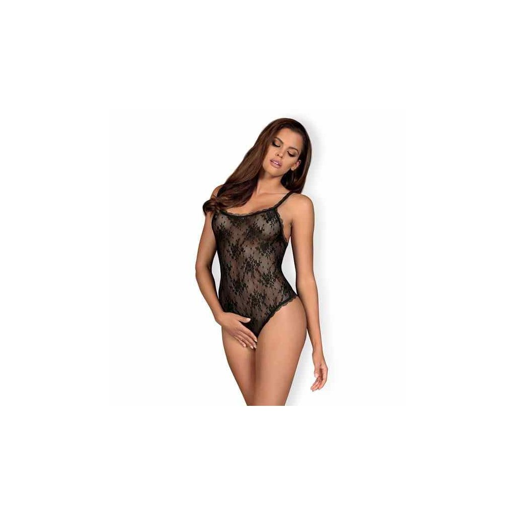 Obsessive - Behindy Crotchless Teddy Black L/XL
