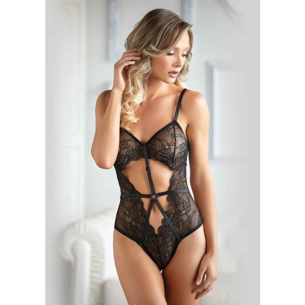 Lace und Mesh Body Black L-XL